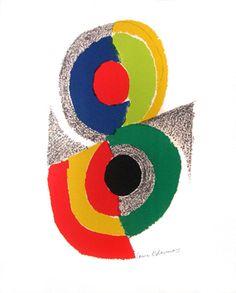 Lithographie originale signée de Delaunay Sonia