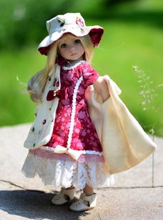 """SOLD - """"Secret Garden""""Dress,Outfit,Clothes for 13""""Effner Little Darling by Lumi #ClothingAccessories"""
