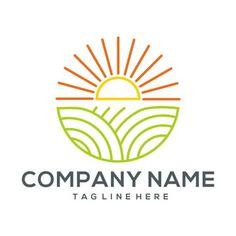 Agriculture Companies, Agriculture Logo, Running Man Logo, Bowl Logo, Icon Design, Logo Design, Farm 2, Farm Logo, Organic Logo