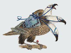 "Svetlana Akateva illustration for ""Baron Munchausen"". Baron, Illustrators, Animals, Extreme Sports, Adventure, Animales, Animaux, Illustrator, Animal"