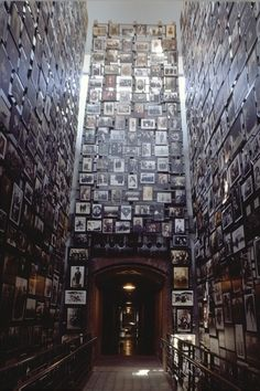 The Tower of Faces (the Yaffa Eliach Shtetl Collection) in the Permanent Exhibition at the U.S. Holocaust Memorial Museum.