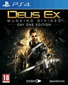 Deus Ex: Mankind Divided Day One Edition PlayStation 4 Cover Art