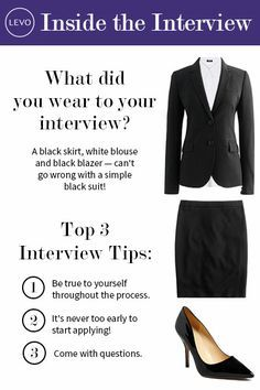 What To Wear To An Interview on Pinterest