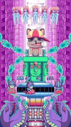 The Psychedelic Pixel Art Sprites Of Paul Robertson (1)