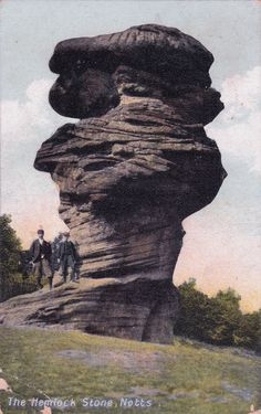 Hemlock Stone, from a postcard posted August Local History, Nottingham, Color Theory, Image Shows, Nostalgia, The Past, Childhood, England, Inspirational
