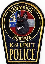 GEORGIA  -  COMMERCE  POLICE  DEPARTMENT   K-9   Patch