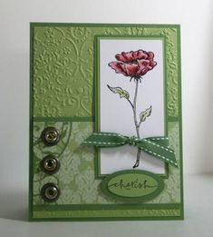 TECC 17 Bloomin Beautiful 1 skdeleeuw by skdeleeuw - Cards and Paper Crafts at Splitcoaststampers Button Cards, Embossed Cards, Stamping Up Cards, Pretty Cards, Copics, Card Sketches, Sympathy Cards, Cool Cards, Flower Cards