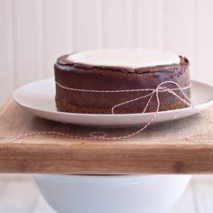 Chocolate Beer Cheesecake with Pretzel Crust via The Beeroness
