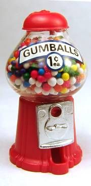 Gumball machine - $9.50 : S P MINIATURES - hand crafted dollhouse scale miniatures, S P MINIATURES - shop online for dollhouse scale miniatures