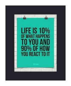 It is not what happens to you, it is how you react to it. #realtalk #agreed #inspiration #quotes #juilconnect