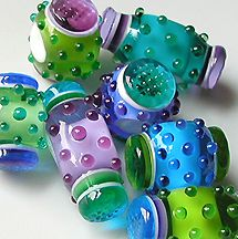 Z-Beads 2005 Gallery featuring handmade lampworks beads by Sarah Moran...