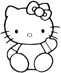 hello kitty image coloring pages - Hello Kitty Color Sheet