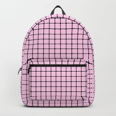 "Pink backpack - Our Backpacks are crafted with spun poly fabric for durability and high print quality. Thoughtful details include double zipper enclosures, padded nylon back and bottom, interior laptop pocket (fits up to 15""), adjustable shoulder straps and front pocket for accessories. Dry clean or spot clean only. One unisex size: 17.75""(H) x 12.25""(W) x 5.75""(D)."