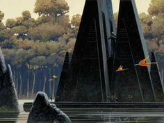 Yavin IV (3) - Templo Ralph McQuarrie e os Storyboards de Star Wars