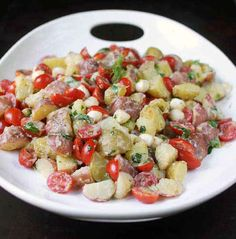 Tomato and Mozzarella Potato Salad with Lemon Buttermilk Dressing | 31 Amazing Things To Cook In August