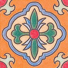 121 Spanish Flower Ceramic Borders 3x3