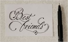 cursive fancy letters how to write best friends easy