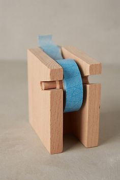 Beechwood Tape Dispenser #anthropologie   Matt, make this please!