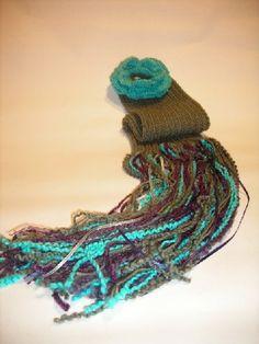 La flor bufanda de lana 2