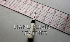 Add some sass to your wardrobe or home decor with hand stitched leather! Learn some quick and easy leather sewing tips on the Craftsy Blog, plus check out Don Morin's new online class Making Leather Bags!