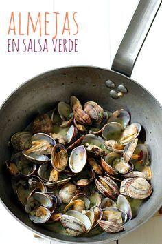 Spanish Cuisine, Spanish Food, Food Challenge, Salsa Verde, Italian Recipes, Italian Foods, Fish Recipes, Tapas, Oysters