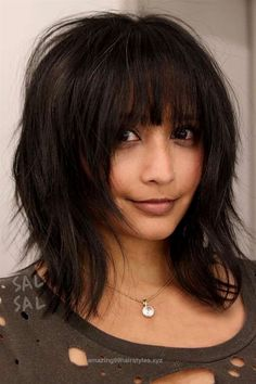 Unbelievable Modern Medium Hairstyles with Bangs for a New Look ★ See more:  glaminati.com/…   The post  Modern Medium Hairstyles with Bangs for a New Look ★ See more: glaminati.c…  appeared fir ..