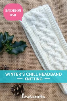 Fight off the winter chill with this super cute and cozy knitting pattern for a headband! | Downloadable PDF at LoveCrafts.com