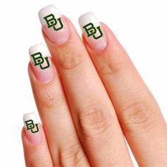 #Baylor Bears 16 Mini Temporary Nail Tattoos