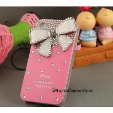 Pink bow phone case