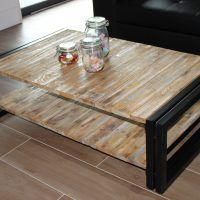 ARGENTIERI sarl : Table basse style indus 2