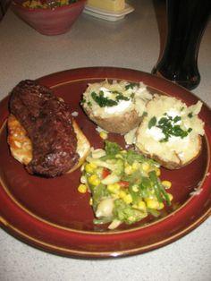 Dean's Steak Tips Over Garlic Toast