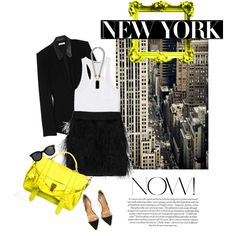 Yellow touch, created by natasha11.polyvore.com- yes and yes and more yes- we have fab accessories to go with this look= nsideadivascloset.com