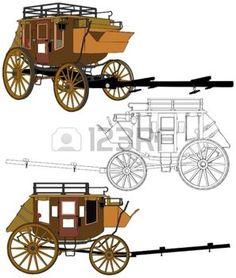 calèche: Stagecoach sans chevaux