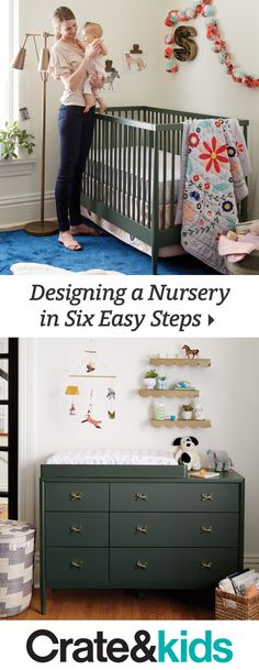 Here& your go-to guide for making a space that& just right for babies and parents. These six simple steps will help take the stress out of nursery design and make it a process you& actually enjoy. Baby Bedroom, Nursery Room, Girl Nursery, Girl Room, Kids Bedroom, Nursery Decor, Bedroom Toys, Nursery Ideas, Everything Baby