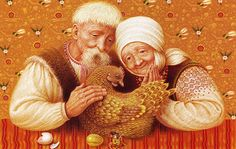From 100 Fairy-Tales: The Best Ukrainian Folktales ~ Illustration by Vladislav Erko, 2005