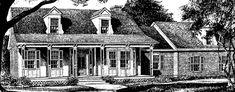WORKABLE FLOOR PLAN - NICE PORCH AND EXTERIOR Pierced-Column Cottage Plan SL-198