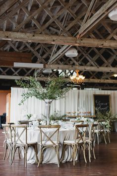 Tall Centerpiece of Branches | photography by http://photography.michelemwaite.com/