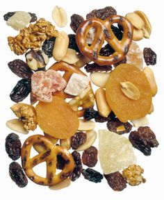 Yes, it's National Trail Mix Day today, August That end-of-summer holiday we all look forward to each year. So, instead of cookies or chips, perhaps today your snack of choice should be a nice zip-lock bag of trail mix. Bacon Day, Healthy Summer Snacks, Trail Mix Recipes, Puppy Chow, Raisin, Brunch, Dried Fruit, Chocolate Chips, Celebrations
