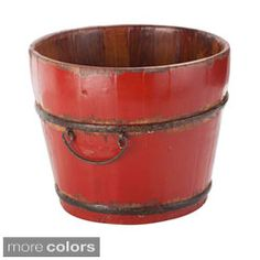 Rustic Open Wood Caddy | Overstock.com Shopping - The Best Deals on Baskets & Bowls