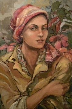 Portret van n vrou met arms gevou Aviva Maree Art African, Art Images, Image, Painting, Art, Portrait, Coloring Pages, Color, South African Artists