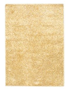 "Hand-Knotted Casablanca Retro Shag, Light Yellow, 5' 7"" x 7' 10"""