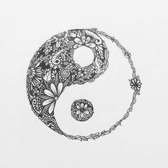 Resultado de imagen de yin yang tattoo
