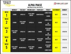 Focus T25 Alpha schedule, my new workout for my challenge group. Clean eating, fitness and Shakeology will work wonders for you if you are ready to commit. I have completed all 3 phases of T25, Alpha, Beta and Gamma. Add me on Facebook at lisa.blissett.5@facebook.com