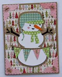 Snappy Scraps: Winter Frolic snowman