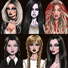 Halloween 2018 Collection 🎃 Who's your favorite? Arte Horror, Horror Art, Scary Halloween Drawings, Horror Drawing, Social Media Art, Bride Of Chucky, Punk Disney Princesses, Graffiti Wall Art, Best Horror Movies