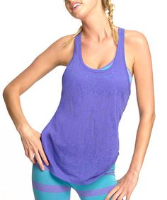 Look what I found on #zulily! Blue Iris Abstract Beachin' Tank #zulilyfinds
