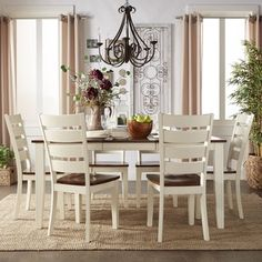 tribecca home shayne country antique two-tone white extending