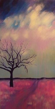 "Cloudburst. Acrylic on canvas. 18"" x 36""  All Original Artwork for Sale"