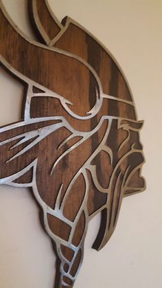 Viking Head, Football Wall, Photo On Wood, Minnesota Vikings, Wall Spaces, Gifts For Father, Wood Carving, Metal Art, Wall Decor