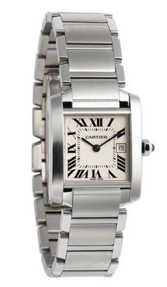 Mothers Day Gift: Cartier Stainless Steel Watch. - By The Wedding Ring Blog